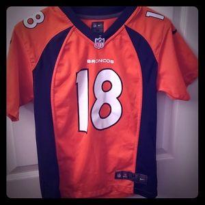 #18 Peyton Manning Denver Broncos Jersey. Kids M